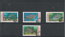Namibia 1994 CTO COSTIERE PESCA SPORTIVA SG # 636-9 4V pesce ORATA KOB galjoen USATO
