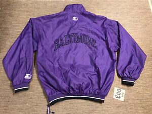 Men's Adult Vintage Baltimore Ravens Pullover Jacket XL Starter NFL Football