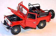 Toyota Land Cruiser FJ40 aperti aperto 1960-84 rosso rosso 1:24