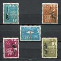 26927) Albania 1962 MNH Olympic Games Tokyo 5v