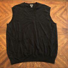 Jos A Bank Mens Cashmere Sweater Vest Black Sz XL