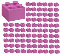 ☀️100x NEW LEGO 2x2 Dark Pink Bricks (ID 3003) BULK Parts Friends Pastel