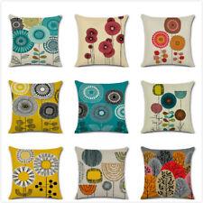 """New Vivid Flower Floral Plants Linen Pillow Case Decorative Cushion Cover 18"""""""