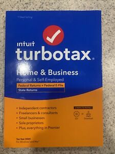 Intuit TurboTax Home & Business + State 2020 Tax Software NEW! SEALED! FAST SHIP