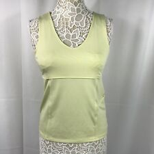 Athleta Women's Top Sleeveless Yellow Athletic Workout Shirt Medium