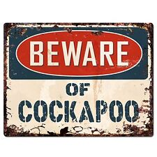 PP1463 Beware of COCKAPOO Plate Chic Sign Home Store Wall Decor Funny Gift