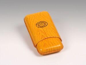 PORTASIGARI CIGAR CASE 3 GIGARS PELLE PARTAGAS HABANOS ORIGINALE 155X80X30 mm