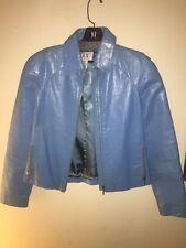 Armani Exchange Blue Patent Leather Jacket Size XS Womens NWOT! $395