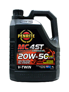 Penrite MC-4 V Twin 20W-50 Motorcycle 4 Stroke Oil with 100% PAO & Ester 4 litre