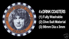 4  x  JON ENGLISH, SINGER - SONGWRITER - ACTOR, TRIBUTE - DRINK COASTERS