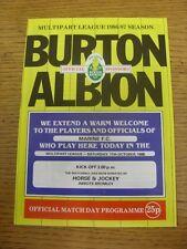 11/10/1986 Burton Albion V Marine (plegado, cambios de equipo a menos que se lis).