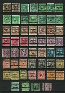 US stamp collection - precancels - good range to 50c good range cities/counties