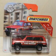 2019 Matchbox JEEP CHEROKEE POLICE Fire Rescue Feuerwehr - MBX Rescue # 51 FYR17