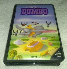Walt Disney's Dumbo (BETA, 1941) NTSC  Magnetic Video  Betamax. Vtg.