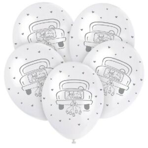 Just Married Mr & Mrs Wedding Day Congratulations Balloons Party Decorations