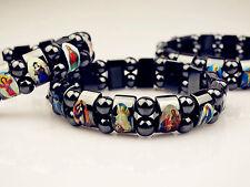 Catholic Saints Symbol Figure Ornament Magnetic Purify MGIC Beads Lucky Bracelet