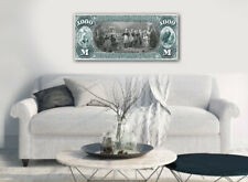 """Large Poster $1000 Independence Conference  Reverse 16""""x 40"""" Printed on Canvas"""