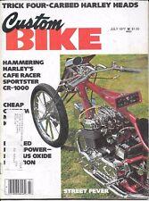 Custom Bike Magazine July 1977 Harley Sportster CR-1000 chopper  motorcycle