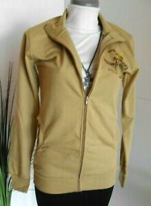 Junk-Shop Damen Sweat-Jacke  dunkel beige Gr  M