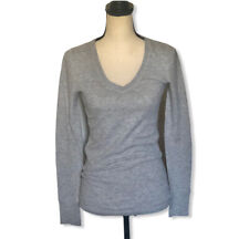 PINK Victoria's Secret Size Small Gray Waffle V-Neck Top