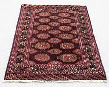 "Vintage Persian Bukhara 4'.5""X6' Handknotted 100%Wool Pile Rug Gm*793"