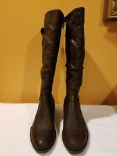 White Mountain Chip Wide Calf Riding Boots, Dark Brown, 7.5 Size 119.00$