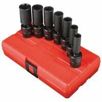 Sunex 3656 7-piece 3/8 In. Drive Deep Fractional Sae Universal Impact Socket Set