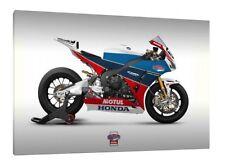 Honda Fireblade CBR1000RR TT Legends - 30x20 pulgadas lienzo enmarcado cuadro impresión