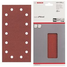 Bosch Sanding Sheets Mixed Grit 10 115x230 mm 8 Hole Expert for WOOD 2608605322