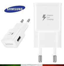 Carica Batteria SAMSUNG ORIGINALE EP-TA20EWE 2A S3 S4 S5 S6 S7 FAST CHARGE NOTE