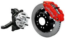 "WILWOOD FRONT DISC BRAKE KIT & DROP SPINDLES,71-87 CHEVY C10,GMC C15,13"",RED"