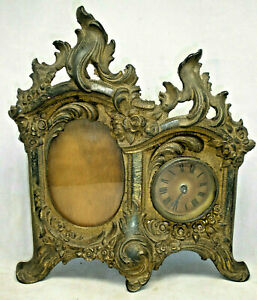 Antique Victorian Clock and Picture Frame