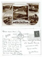 POST CARD REAL PHOTO GOOD LUCK FROM BRIDLINGTON