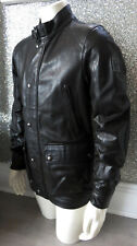 Immaculate Belstaff TOURMASTER Black Brown Leather Jacket IT 52 UK XL