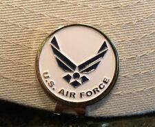 New Us Air Force Hat Clip with removable Magnetic Golf Ball Marker