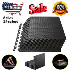 Floor Mat Exercise Gym Rubber Flooring Tiles Garage Home Fitness Workout Mats