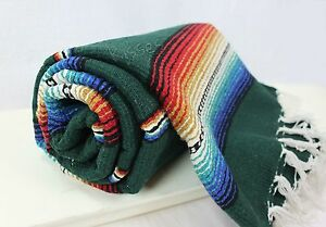 Mexican Serape Blanket Beach Yoga Sarape Throw Zarape New Rug Southwestern