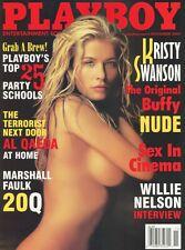 PLAYBOY NOVEMBER 2002 Kristy Swanson Buffy Serria Tawan Willie Nelson RCVR2