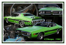 1973 73 Dodge Charger Poster Print
