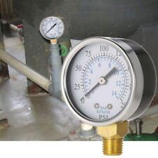 "0-14 Bar Air Oil Water Pressure Gauge 1/4"" NPT 0-200PSI Manometer Side Mount R"