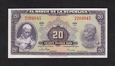 F.C. COLOMBIA , 20 PESOS ORO 1950 , S/C ( UNC ) , P.392d .