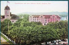 New Osburn Hotel & Courthouse Eugene Oregon antique postcard