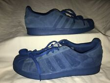 Adidas Superstar RT Equipment Blue Suede Shell Toe Mens 11.5 Shoes Sneakers
