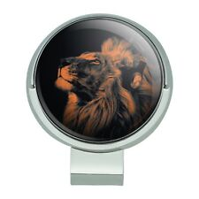 Lion Wearing Headphones Music Golf Hat Clip With Magnetic Ball Marker