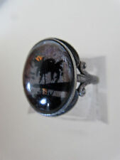Antique Hoffman Sterling Butterfly Wing Ring Size 5 3/4 Moonrise Over Palms