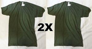 2X Maglietta verde t-shirt militare ORIGINALE Esercito Italiano Cotone 100%