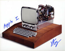 Steve Woz Wozniak SIGNED 8x10 APPLE I COMPUTER PHOTO + INSCRIPTION AUTOGRAPHED