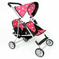 The New York Doll Collection My First Dolls Twin Stroller Cutest Heart Design Pi