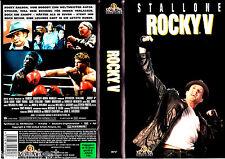 "VHS - "" ROCKY V ( 5 ) "" (1990) - Sylvester Stallone - Talia Shire - Burt Young"