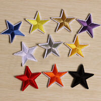 10Pcs 4.4cm Embroidery Star Sew Iron On Patchs Badge Clothes Applique Bag Fabric